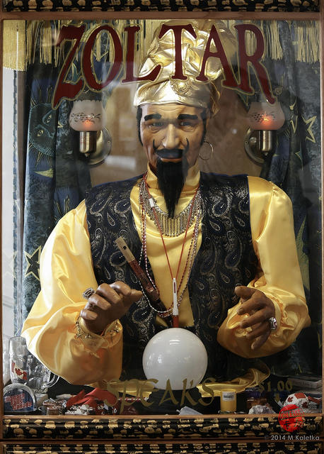 carnival fortune teller with crystal ball