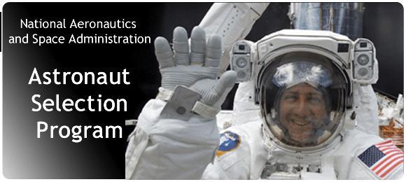 NASA astronaut web page