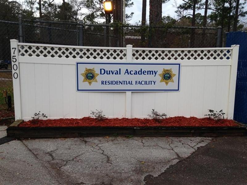 Duval Academy sign