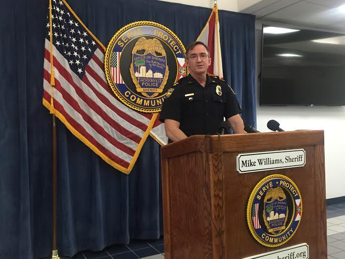 JSO Chief of Investigations Chris Butler addresses reporters Monday