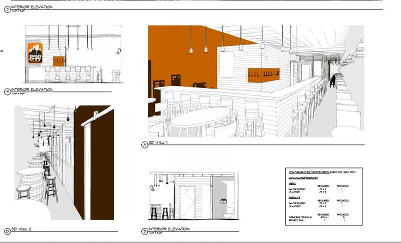 Architectural drawings show plans for the new Bold City location.