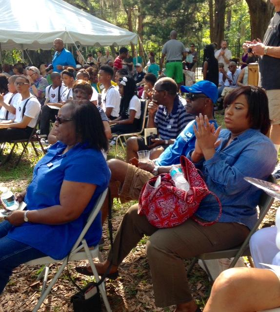 A Crowd Gathers Saturday To Celebrate The Opening Of School House At Walter Jones Historical Park