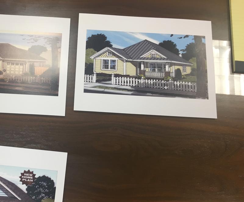 At Thursday's meeting Kairos President Alex Alex Itkin brought examples of what the three low-cost homes would look like.