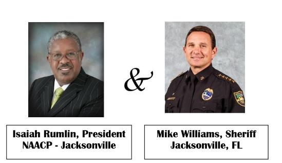 NAACP President and Sheriff headshots