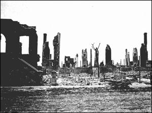 Church Street smolders after the Great Fire of 1901 in Jacksonville