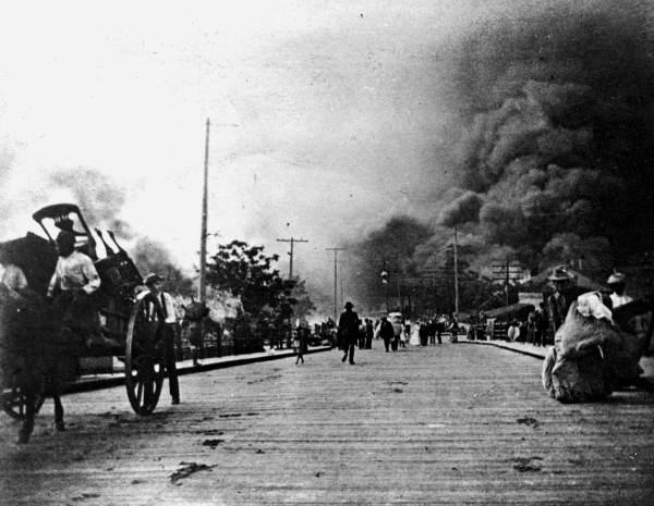 A fire sparked in a mattress factory on May 3, 1901, burning down 146 blocks of Jacksonville.