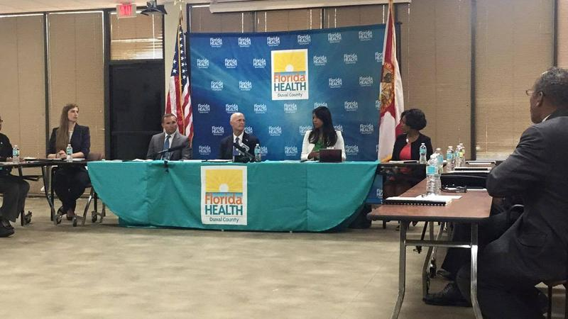Governor Rick Scott meets with Duval County health and mosquito control officials about Zika.