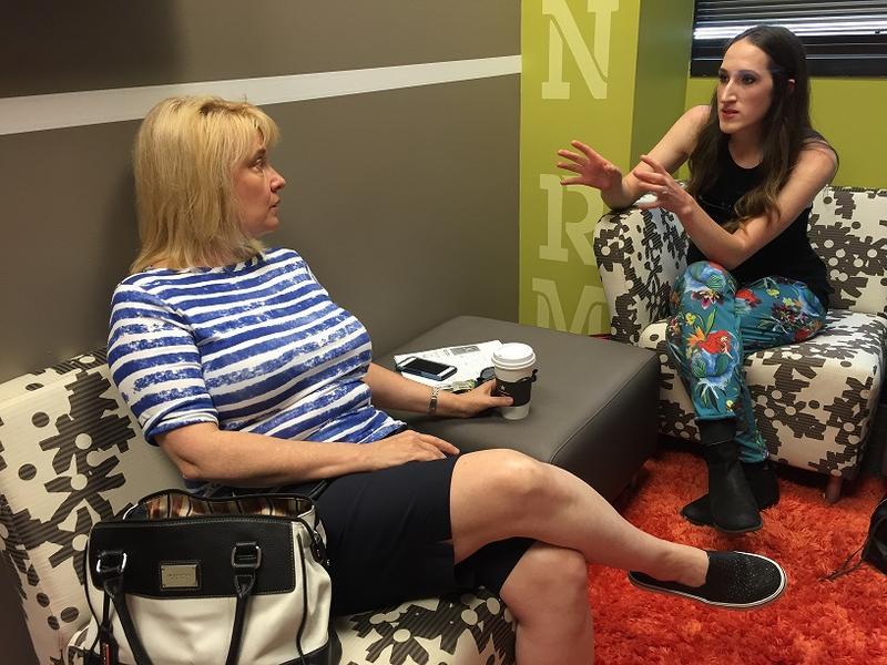 Theater Jacksonville Executive Director Sarah Boone and costume designer Kimberly Burns.