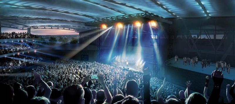 Artist rendering of Daily's Place amphitheater.