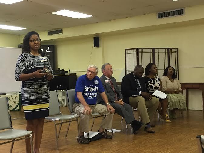 """Leslie Jean-Bart (from left), Dave Bruderly, Charles Cofer, Reggie Fullwood, LaShonda """"LJ"""" Holloway, Gracie Bell McCastler"""