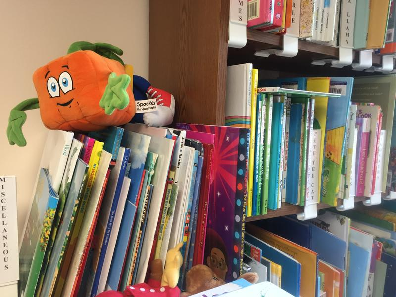 Books and extra materials are available at a lending library located inside the Early Learning Coalition's office for Reading Pals to use.
