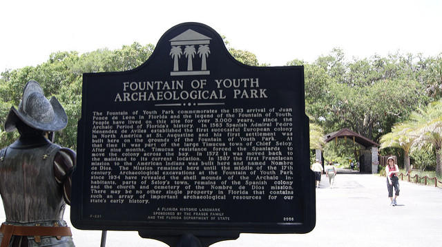 The Fountain of Youth sign.