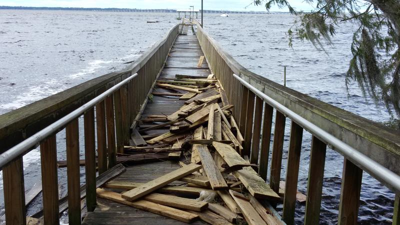 The Historic County Dock was destroyed by Hurricane Matthew