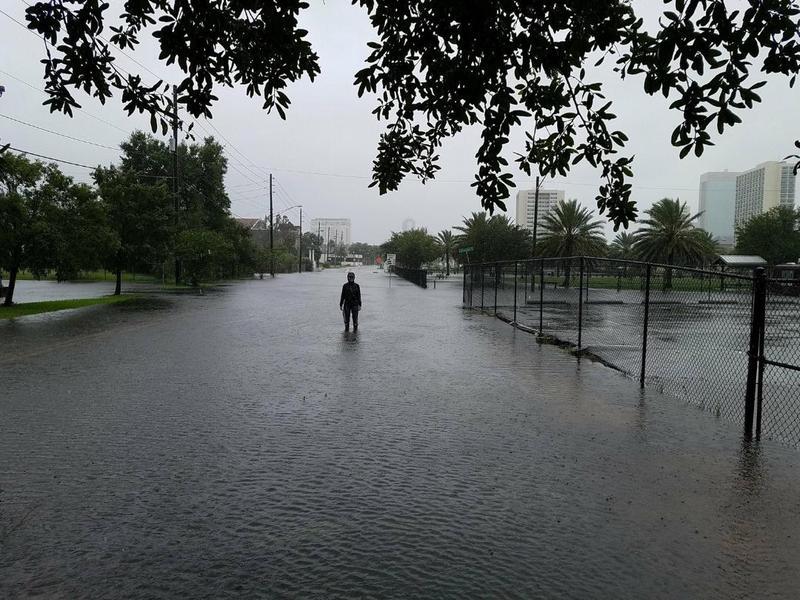 Flooding during Hurricane Matthew in Jacksonville's Springfield neighborhood.