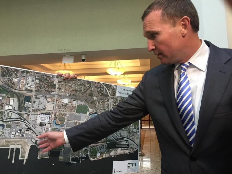 Mayor Lenny Curry talking plans to modify the Hart Expressway ramps close to Everbank Field.