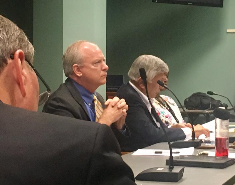 Republican Council members Aaron Bowman and Jim Love, and Democrat Tommy Hazouri presented their revamped human rights bill Wednesday.