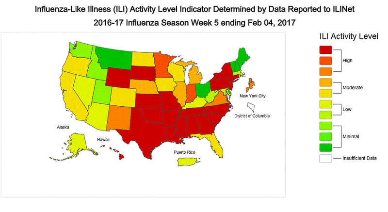 Flu Cases Spiking Across the United States: CDC