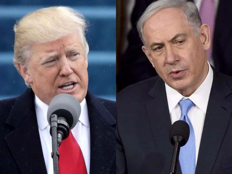 President Trump, left, and Israeli Prime Minister Benjamin Netanyahu.