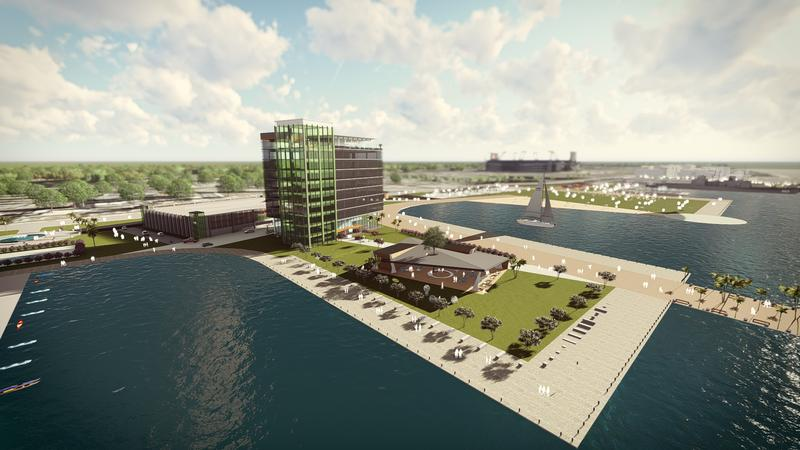 """A proposal submitted to the city of Jacksonville would turn downtown's shipyards and  Metropolitan Park into what developers are calling an """"innovation district."""""""