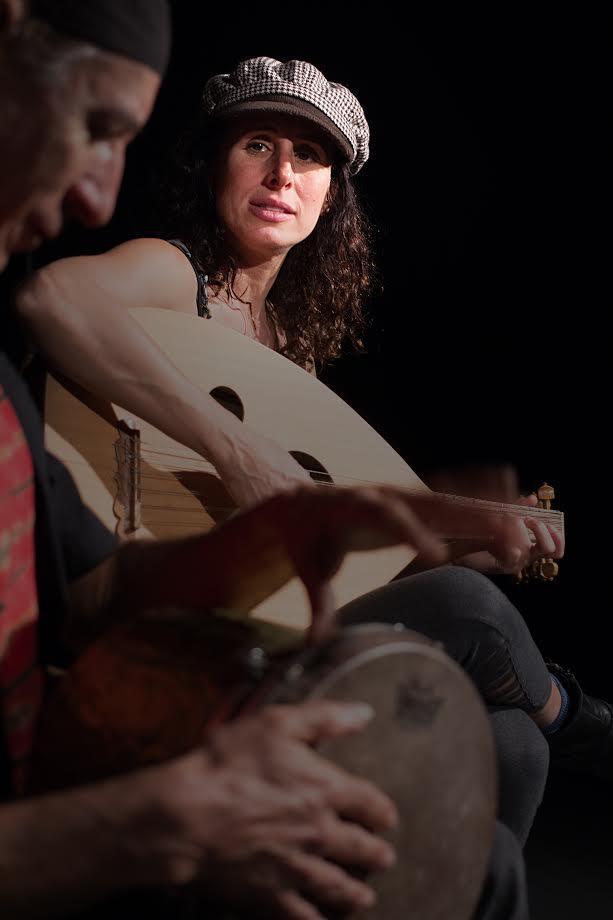 Basya Schechter, frontwoman of Pharoah's Daughter and Drummer Ken Anoff