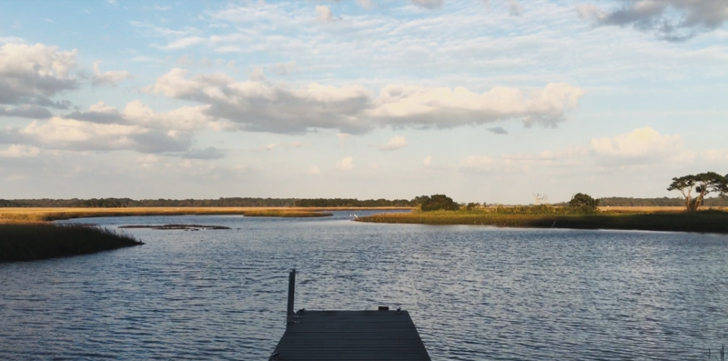 A boat ramp allows access to the tidal creeks that meander around Cedar Point Preserve.