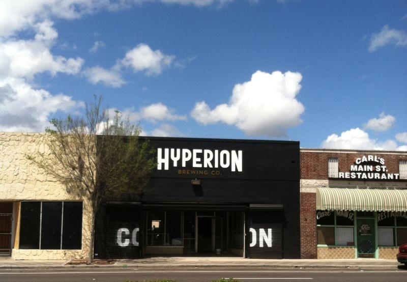 Hyperion Brewing Company is located on the corner of 8th and Main St.