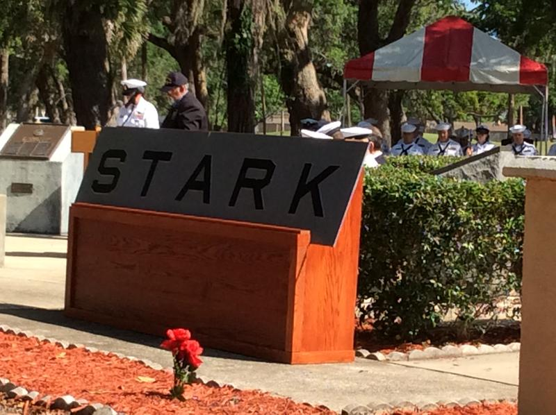 Mayport Naval Station's Memorial Park honors the sacrifice of the 37 who died and the heroic acts of those who kept the USS Stark afloat.