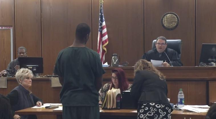 Devonte Hanford appears in court Sunday, July 30.