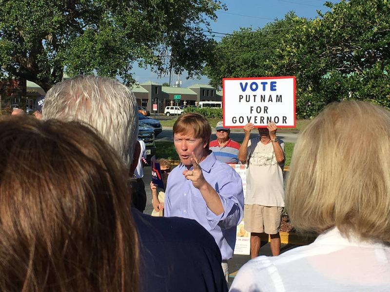 Adam Putnam campaigns in May.