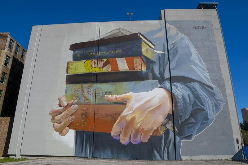 Case Maclaim's mural on Forsyth Street downtown.