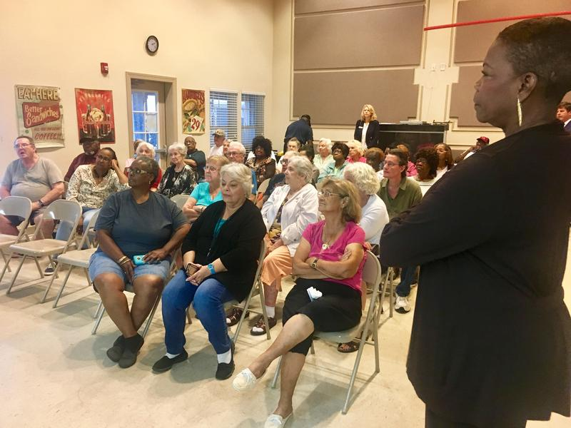 State Senator Audrey Gibson, D-Jacksonville, called a follow-up meeting in Madison Manor Senior Living community room to talk transportation solutions.