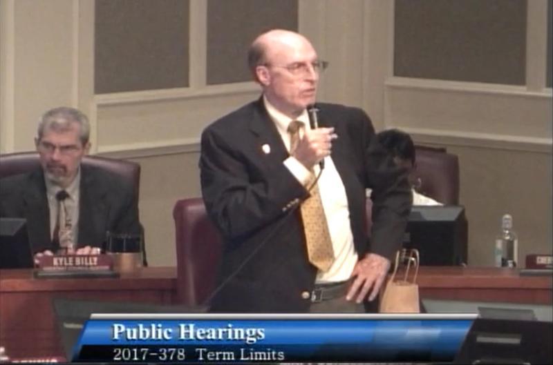 Jacksonville City Councilman Matt Schellenberg sponsored the defeated term limits bill.