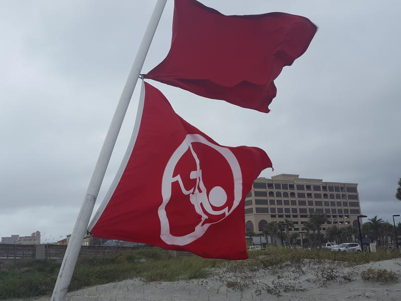 red flags at the beach near Jacksonville