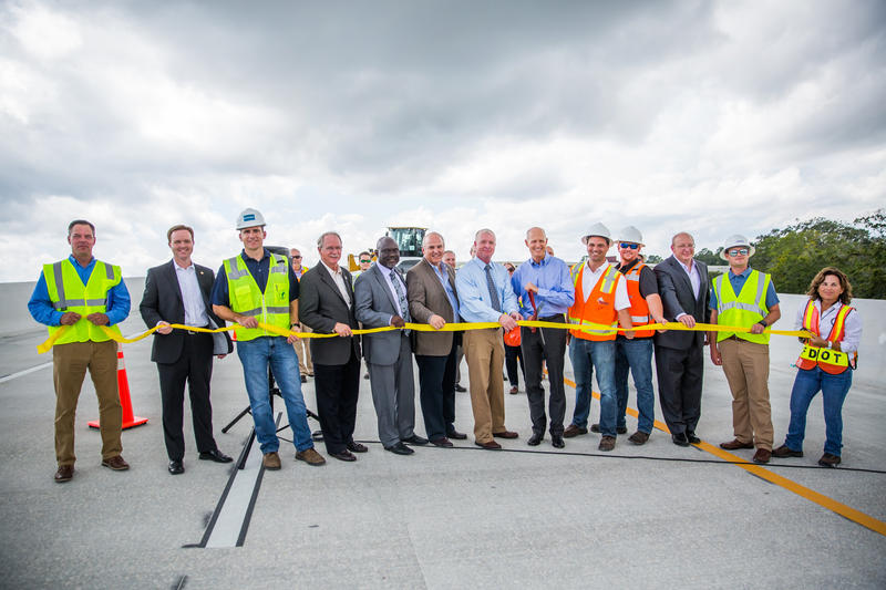 Gov. Rick Scott attends the ribbon cutting for the new I-95 ramp on Aug. 30, 2017.