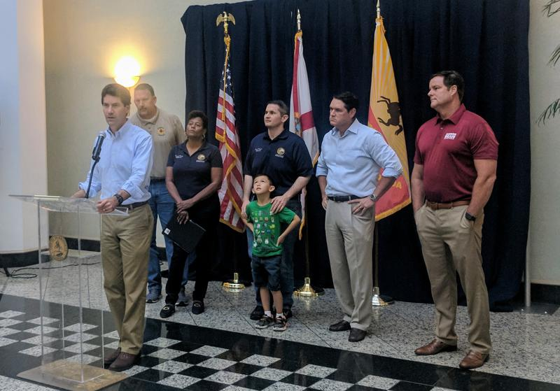 Duval delegation members, led by chairman Jay Fant, discussed Irma relief Thursday at Jacksonville City Hall.