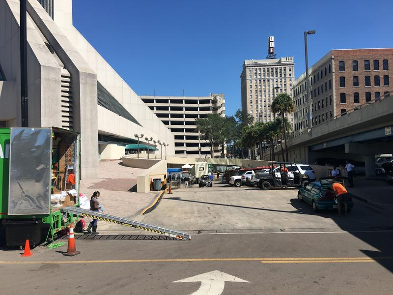 As the Wells Fargo Tower reopens for business, crews continued the recovery effort.