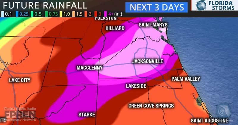 expected rainfall map