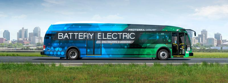 An electric bus made by Proterra is pictured. The JTA has secured a federal grant for an electric bus program in Jacksonville. The type of bus JTA will use has not been announced yet.