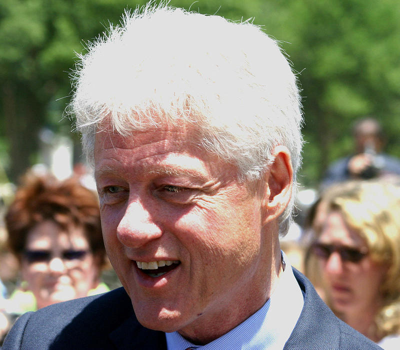 Bill Clinton, former President of the United States, at the dedication of the National World War II Memorial.
