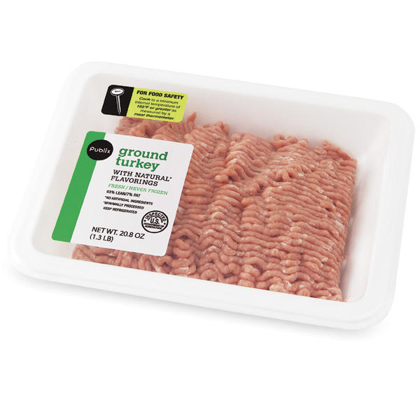 The USDA is recalling approximately 38,475 pounds of ground turkey. Pictured is one of the Publix-branded packages.