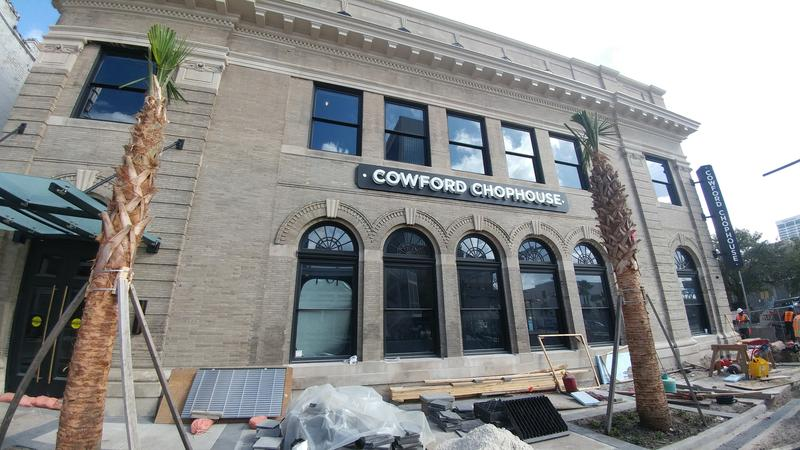 Construction continued Thursday, Oct. 19, 2017, on the Cowford Chophouse.
