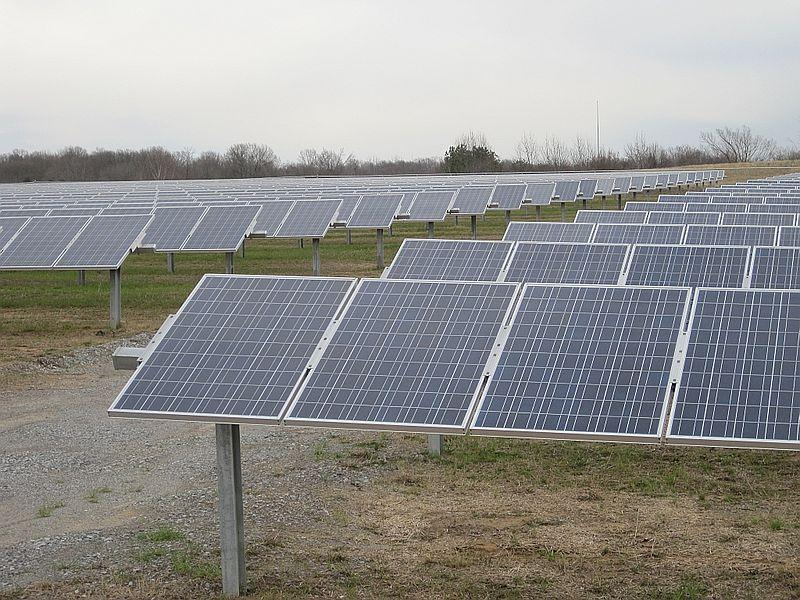 A solar farm in Memphis, Tenn. is picture. JEA is planning to build five  new solar farms in Jacksonville.