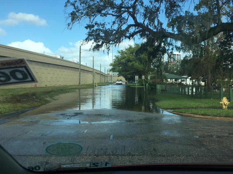 Standing water remained in the St. Nicholas area Thursday morning.