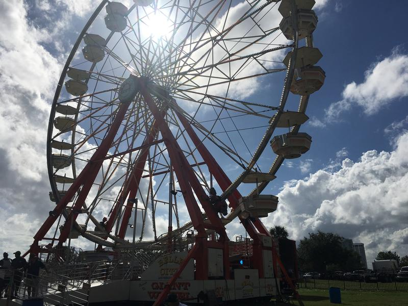 See the river from atop this Ferris wheel at Oktoberfest.