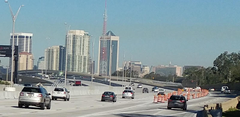 Northbound motorists on I-95 heading into downtown Jacksonville are navigating new traffic patterns.