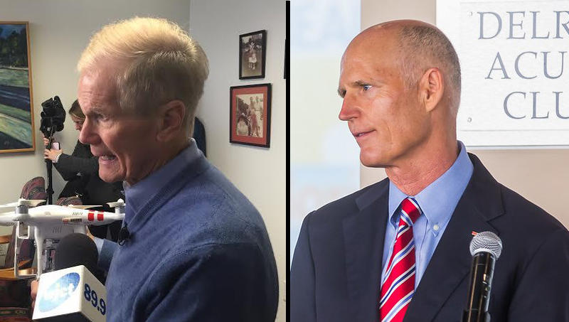 Sen. Bill Nelson (R-Fla.) and Gov. Rick Scott (D-Fla.)