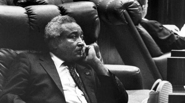 Senator Arnett Girardeau is pictured in Tallahassee on Feb. 2, 1988.