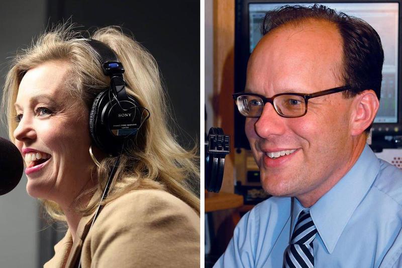 WJCT's Melissa Ross and WLRN's Tom Hudson