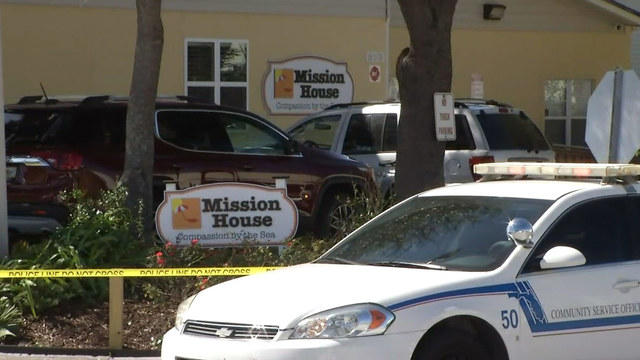 Two men were shot outside the Mission House in Jacksonville Beach Friday morning.