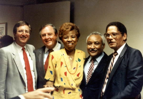 Senator Arnett Girardeau (pictured second from the right) poses with colleagues in 1988.